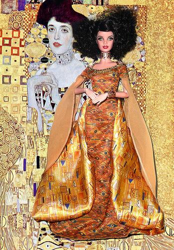 Куклы и живопись. Золотая Адель