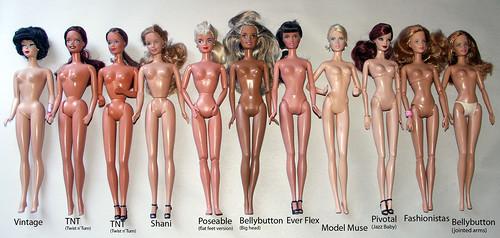 Типы тел куклы Барби
