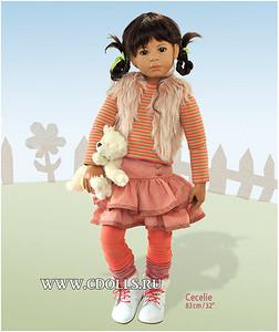 Кукла Сесиль от Хайди Плюсцок. Видеообзор