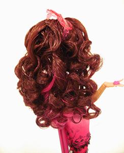Как завить кукольные волосы. Закрепление завивки