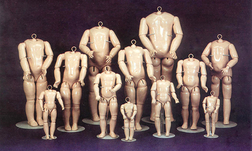 Композитные тела для кукол. Германия. Начало XX в.