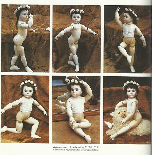 Возможности движения куклы Bebe Modele, Леон Казимир Брю. Франция, 1880 г.
