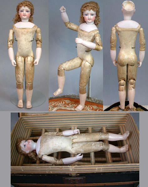 Кукла 39 см. Голова Francois Gaultier Poupee. Тело Emile Jumeau. Франция, 1870 г.