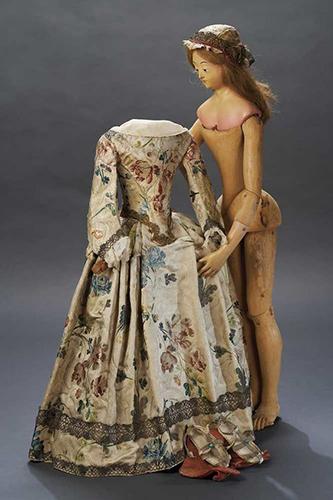 Кукла из дерева и папье-маше. Северная Италия, конец XVIII в.