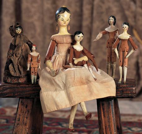 Семейство кукол гроднерталь. Германия, около 1840 г.