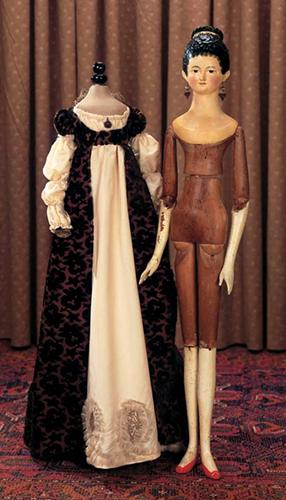 Деревянная кукла 64 см. Германия, 1810 г.