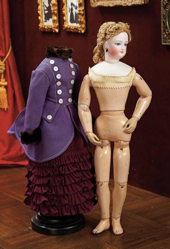 Кукла 43 см высотой. Леон Казимир Брю. Франция, 1872 г.