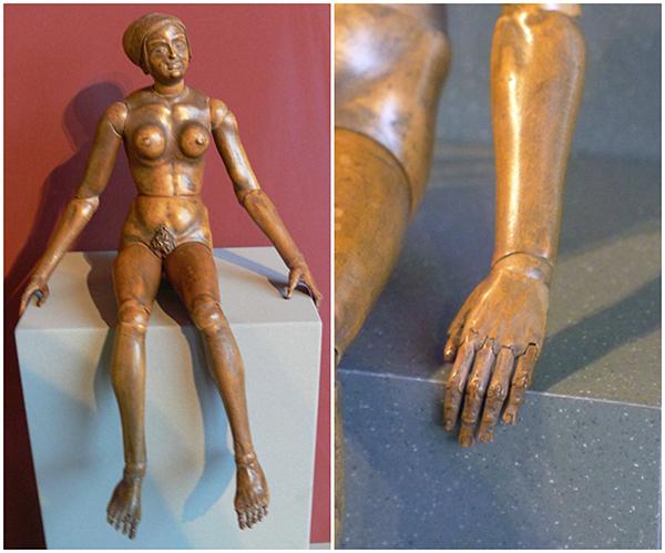 Манекен, анатомическая модель человека. Нюрнберг, 1520 г.