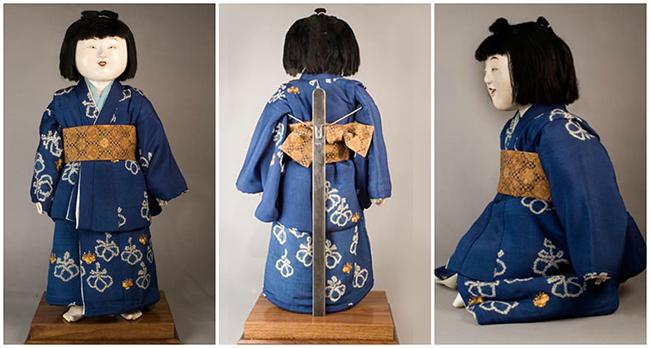 Деревянная кукла госё-нингё, высота 91 см.  Япония, около 1800 г.