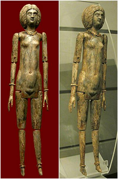 Кукла из слоновой кости. II в. до н.э. Музей Рима