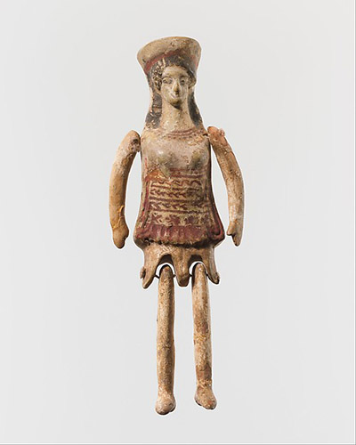 Кукла из глины, Греция, V в. до н.э.