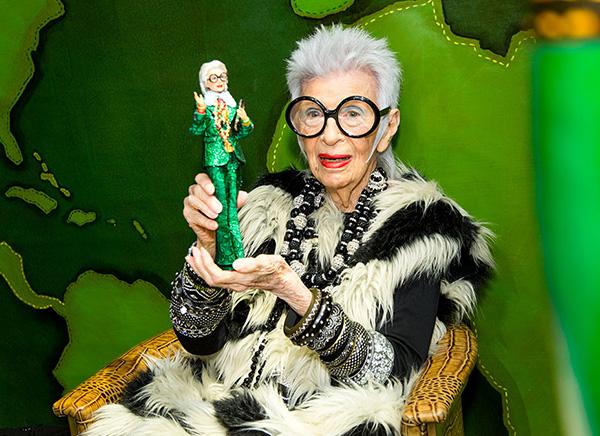 Айрис Апфель и её единственная в своём роде кукла Барби