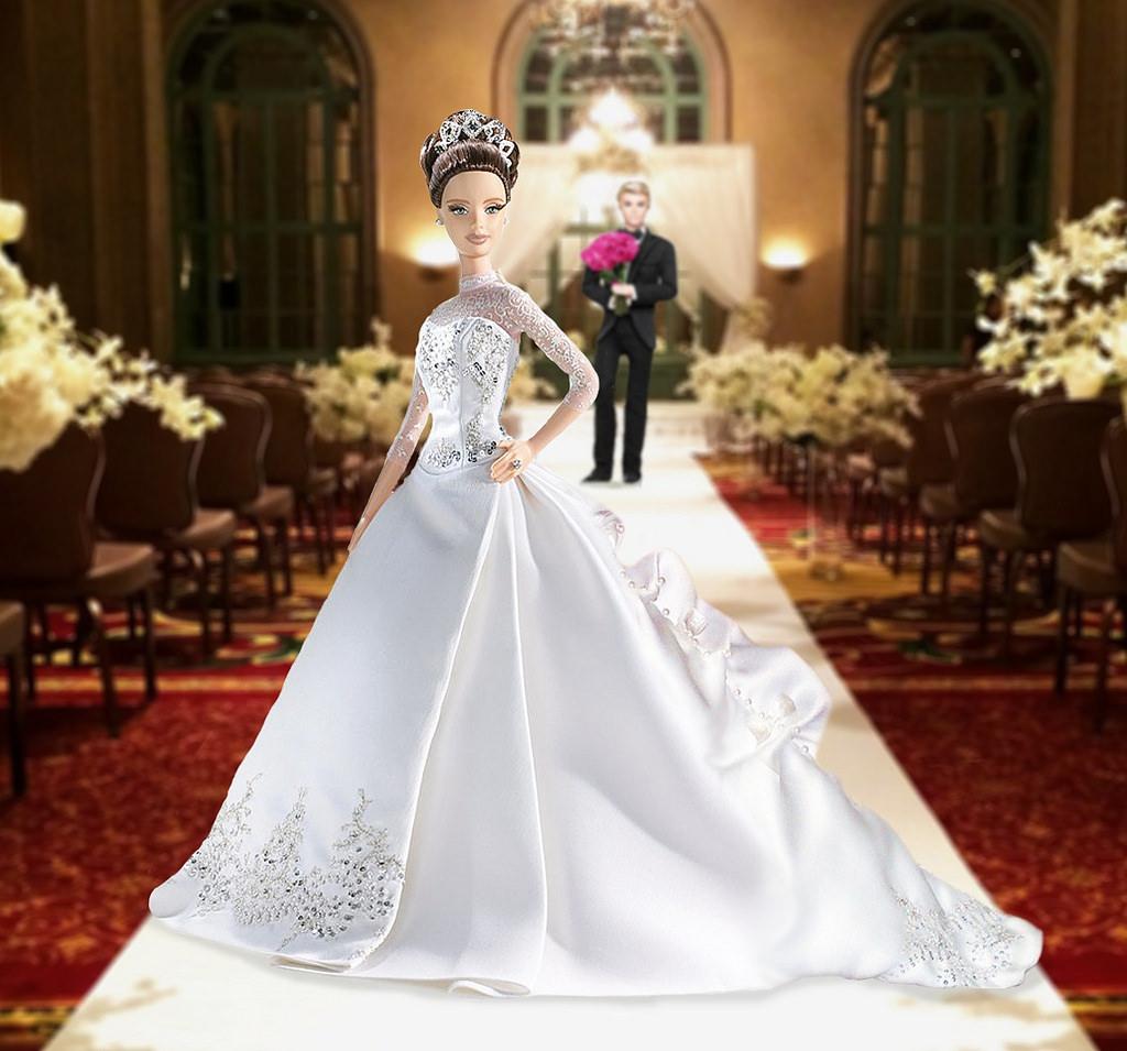 Кукла Barbie Reem Acra (Барби свадебная от Рим Акра)