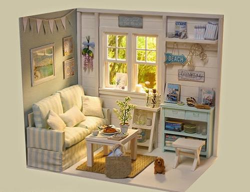Диорама с уютной комнатой