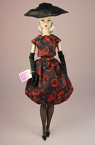 Барби Силкстоун 2018 Коктейльное платье Элегантная роза