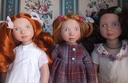 Куклы Виолетт, Абигайл и Каролина Цвергназе