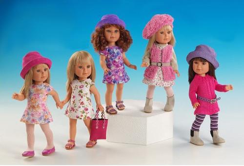 Куклы-девочки Вестида де Азул
